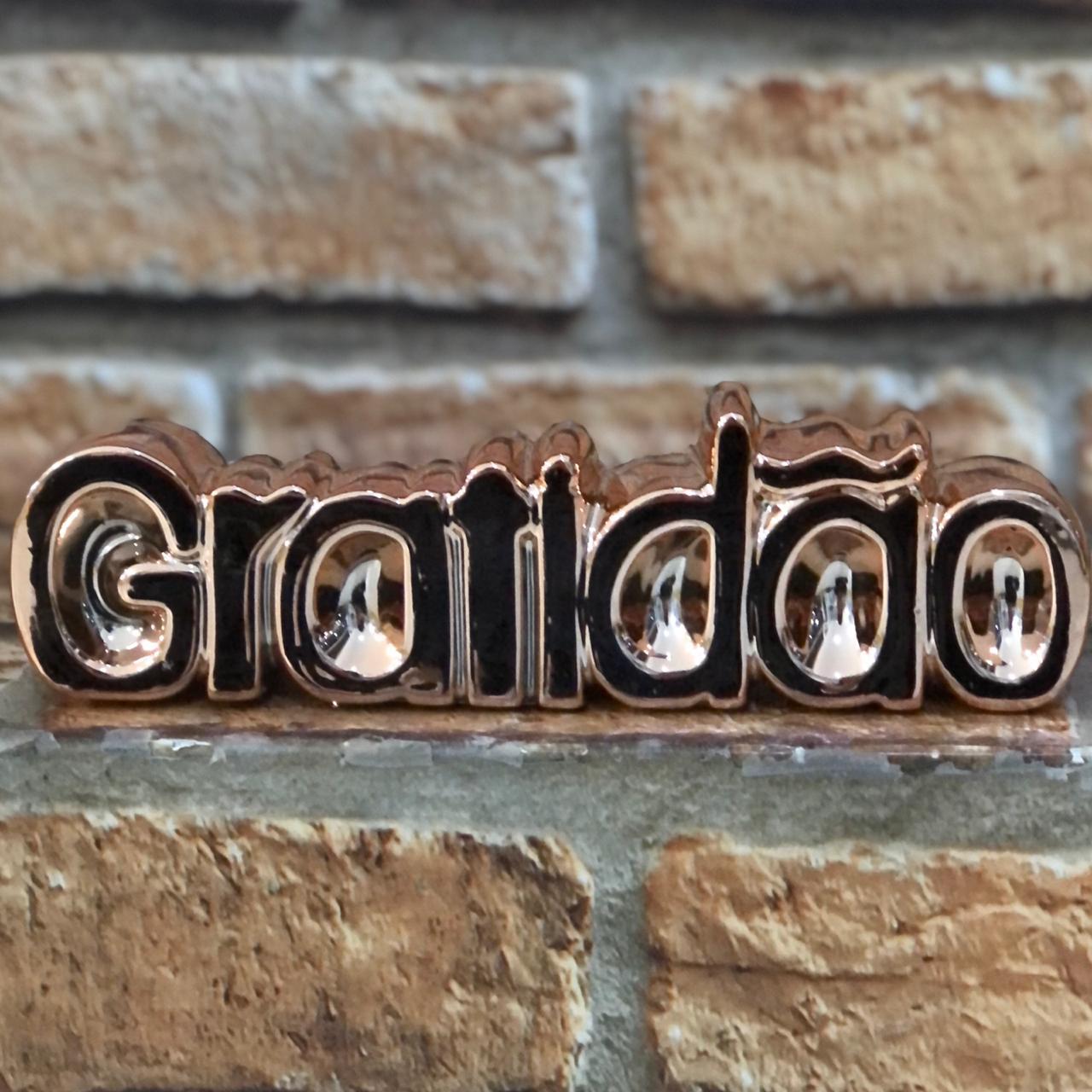Enfeite Decorativo Palavra Gratidão