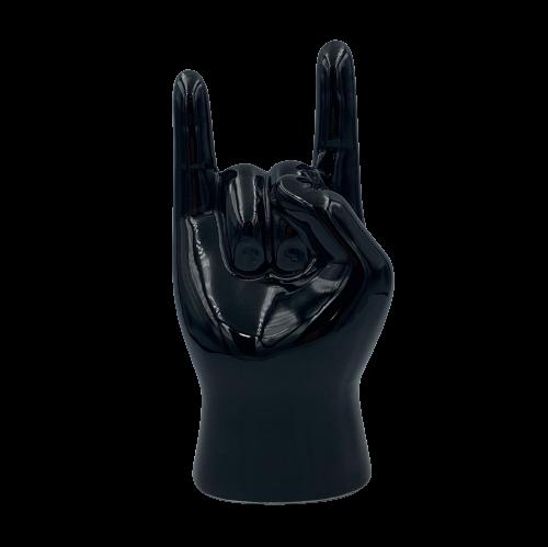 Enfeite Mão de Porcelana Rock