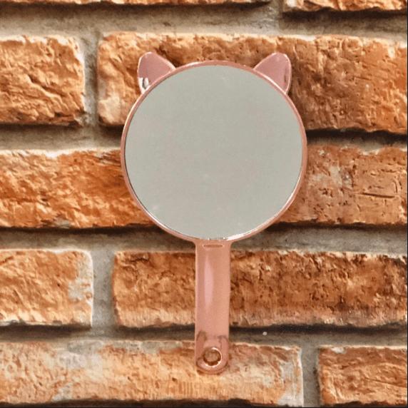 Espelho de Mão com Orelhas de Gatinho