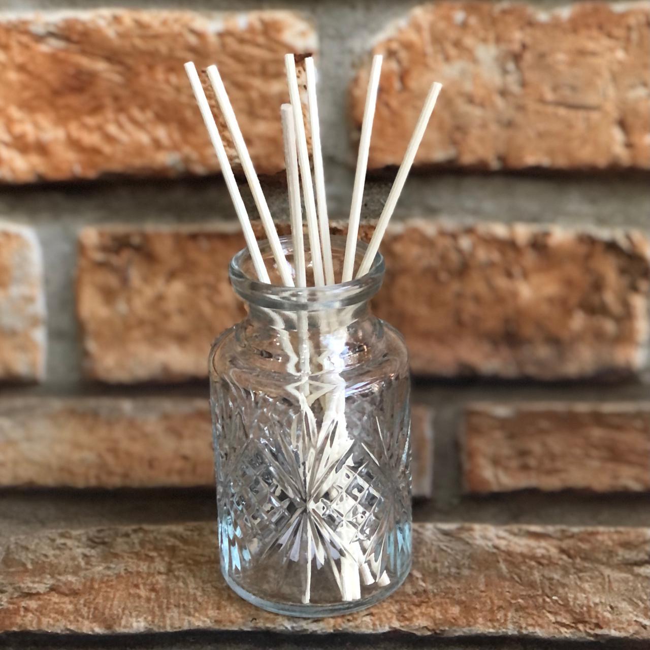 Frasco para Difusor de Ambientes de Vidro com Palitos de Bambu