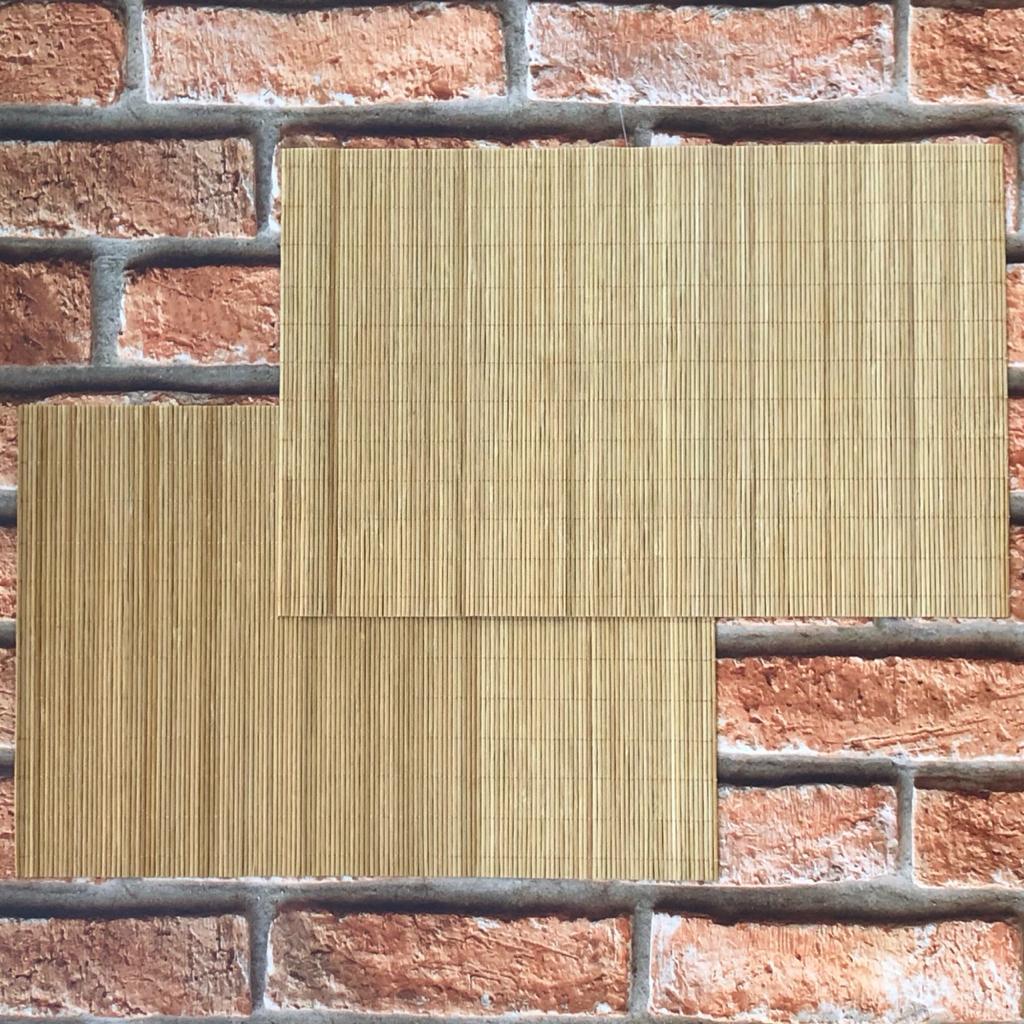 Jogo Americano Retangular de Bambu 30x45 cm 4 Lugares