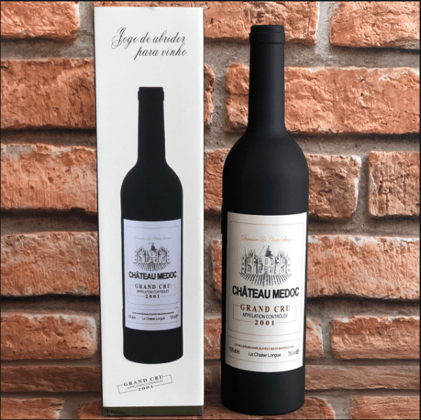 Jogo de Abridor para Vinho estilo Garrafa