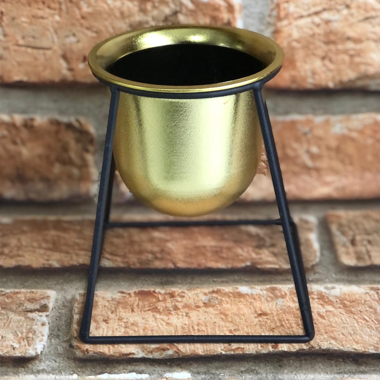 Jogo de Vaso Decorativo Dourado 4 Peças