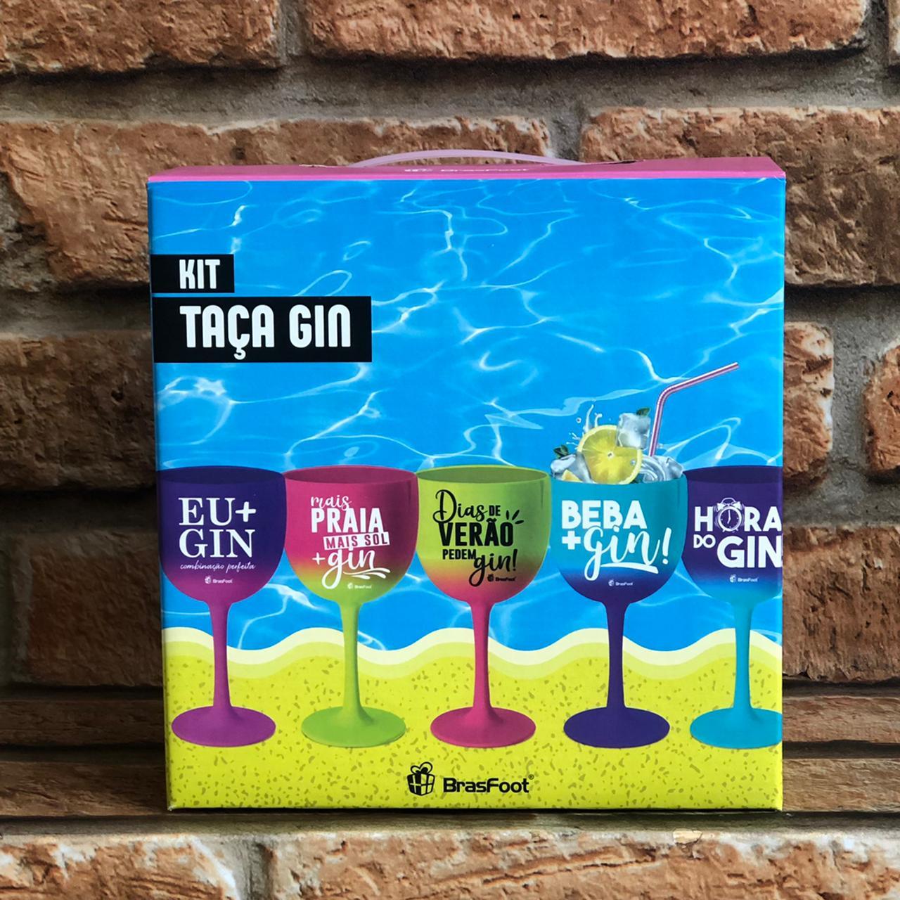 Kit Taça Gin 580ml Degradê Cores