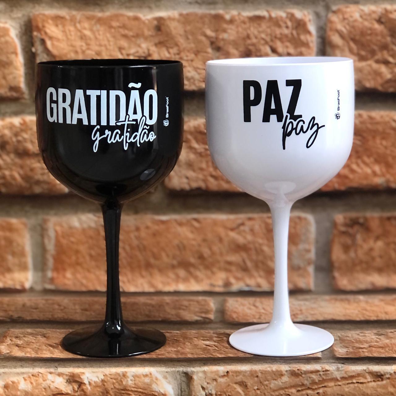 Kit Taça Gin 580ml Paz e Gratidão