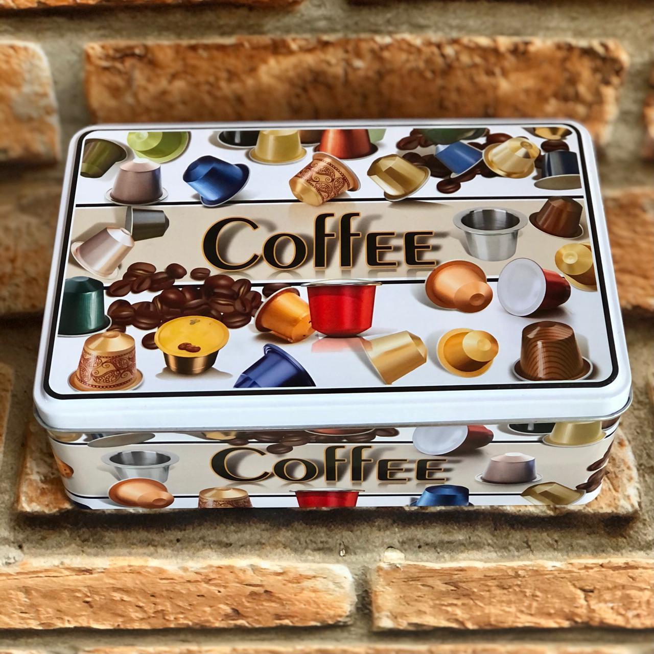 Lata Porta Cápsulas Coffee