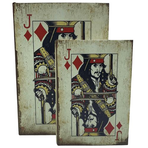 Livro Caixa Decorativo com 2 peças Baralho