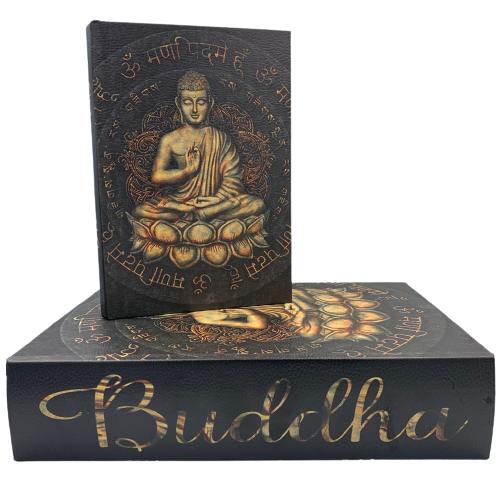 Livro Caixa Decorativo com 2 peças Buddha