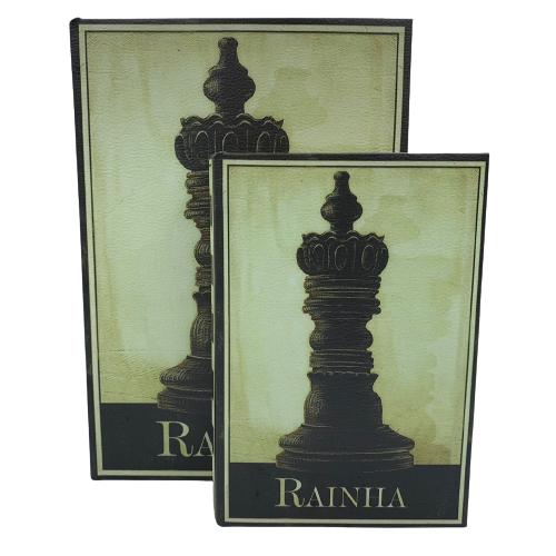 Livro Caixa Decorativo com 2 peças Xadrez