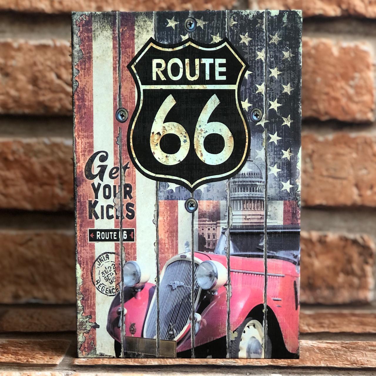 Livro Cofre Decorativo com Chave Route 66