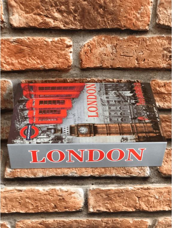 Livro Cofre Decorativo com Chave London Cabine