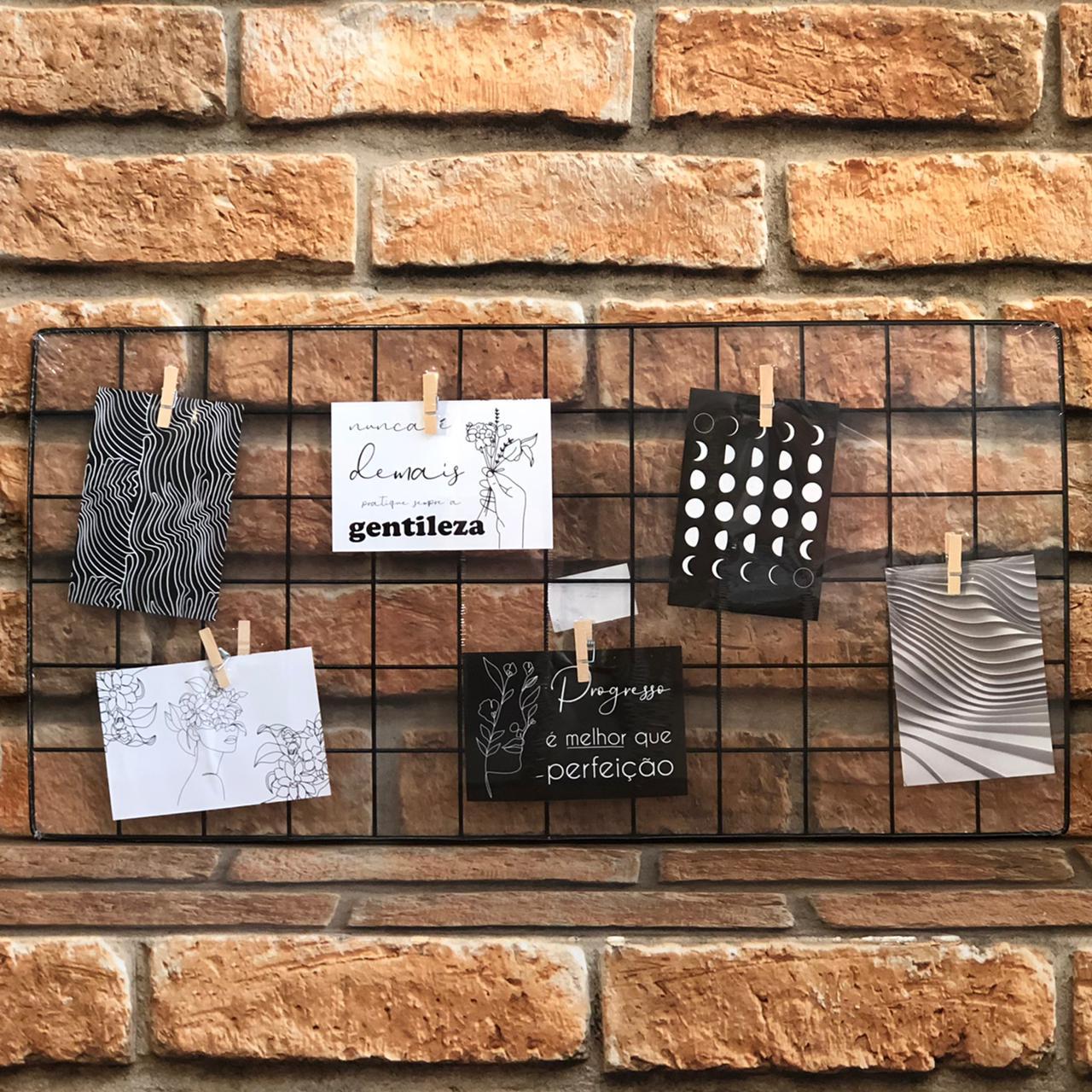 Memory Board Aramado com Pregador para Fotos