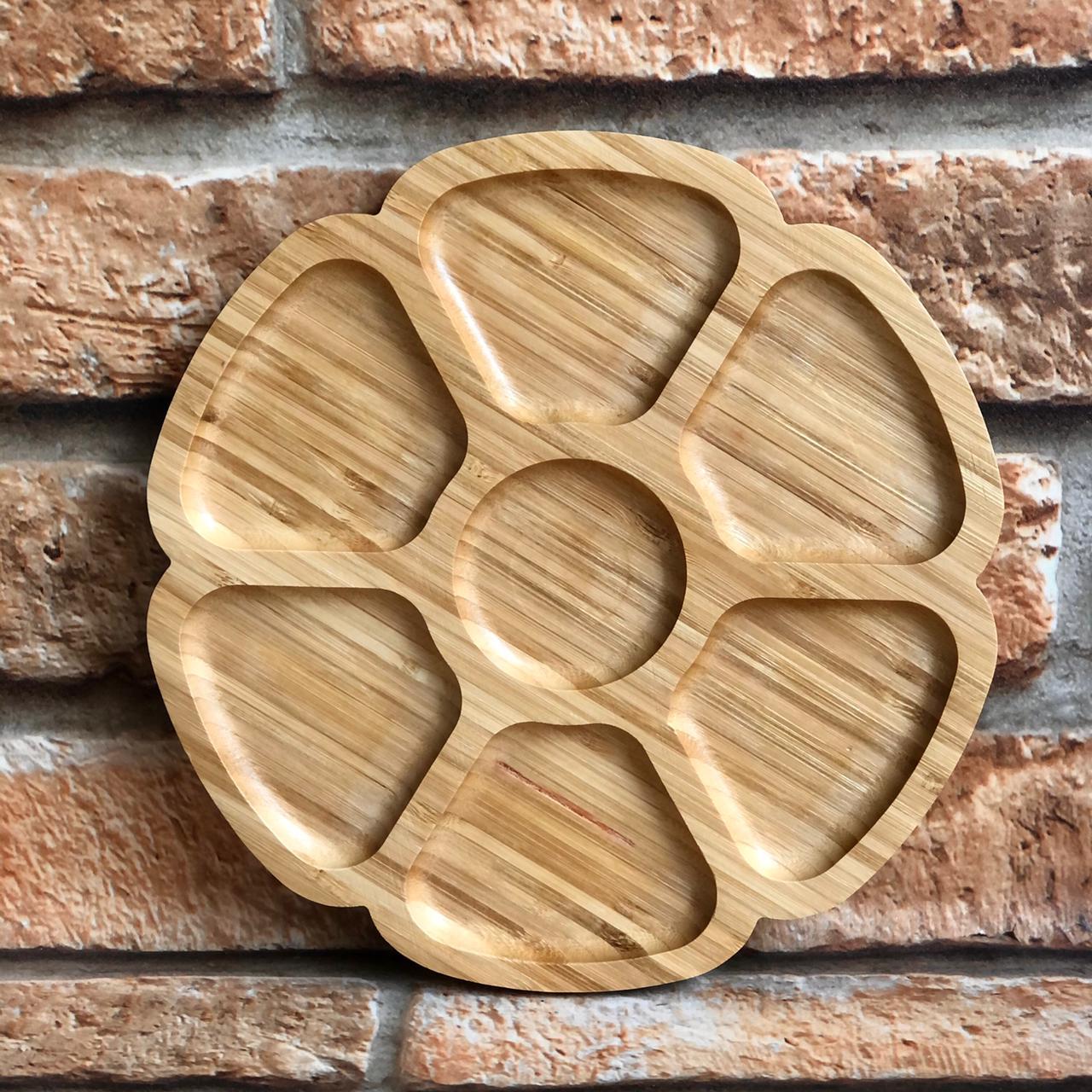 Petisqueira de Bambu com 7 Espaços Flor