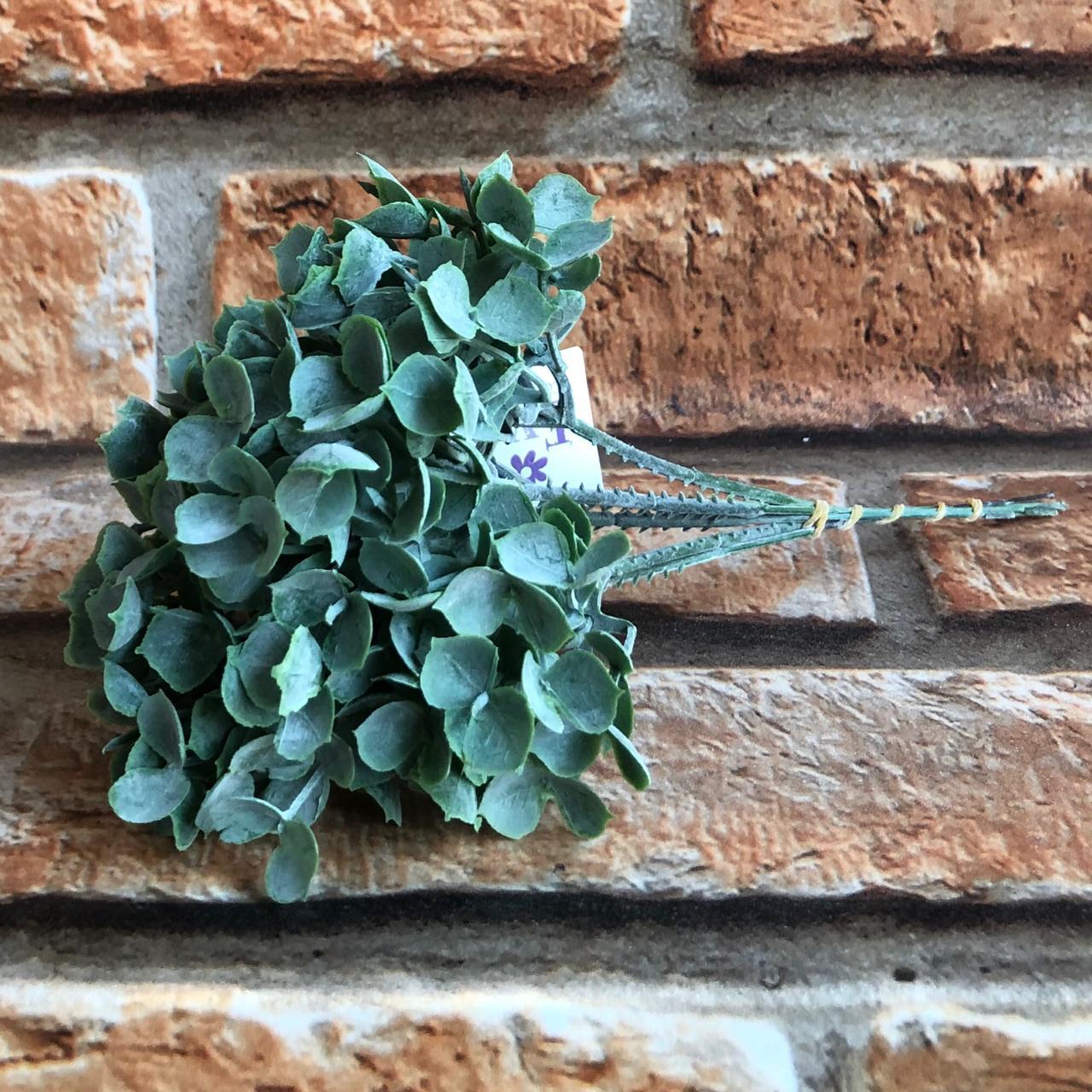 Pick Planta Artificial Miúdo Verde Escuro com 6 Galhos