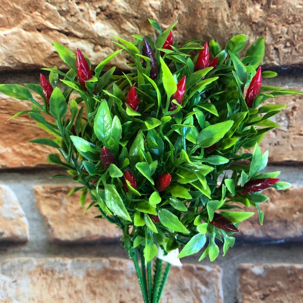Pick Planta Artificial Pimenta 6 galhos