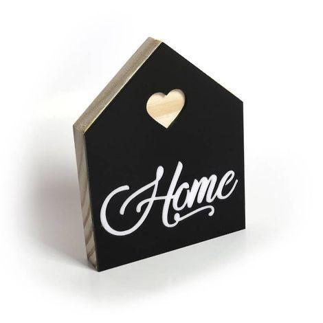 """Placa Casa de Madeira Pinus """"Home"""""""