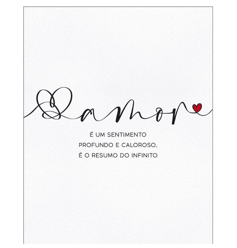 """Placa Decorativa Retangular """"Amor Resumo do Infinito"""""""