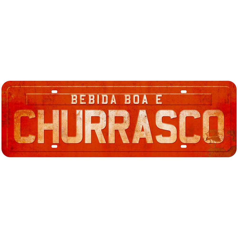 "Placa Decorativa ""Bebida Boa e Churrasco''"