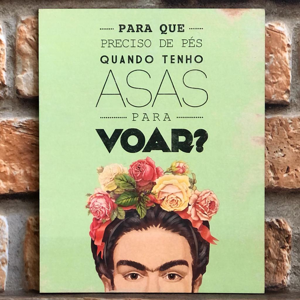 Placa Decorativa Frida