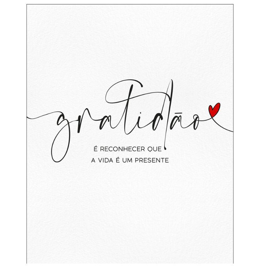 """Placa Decorativa Retangular """"Gratidão A Vida é Um Presente"""""""