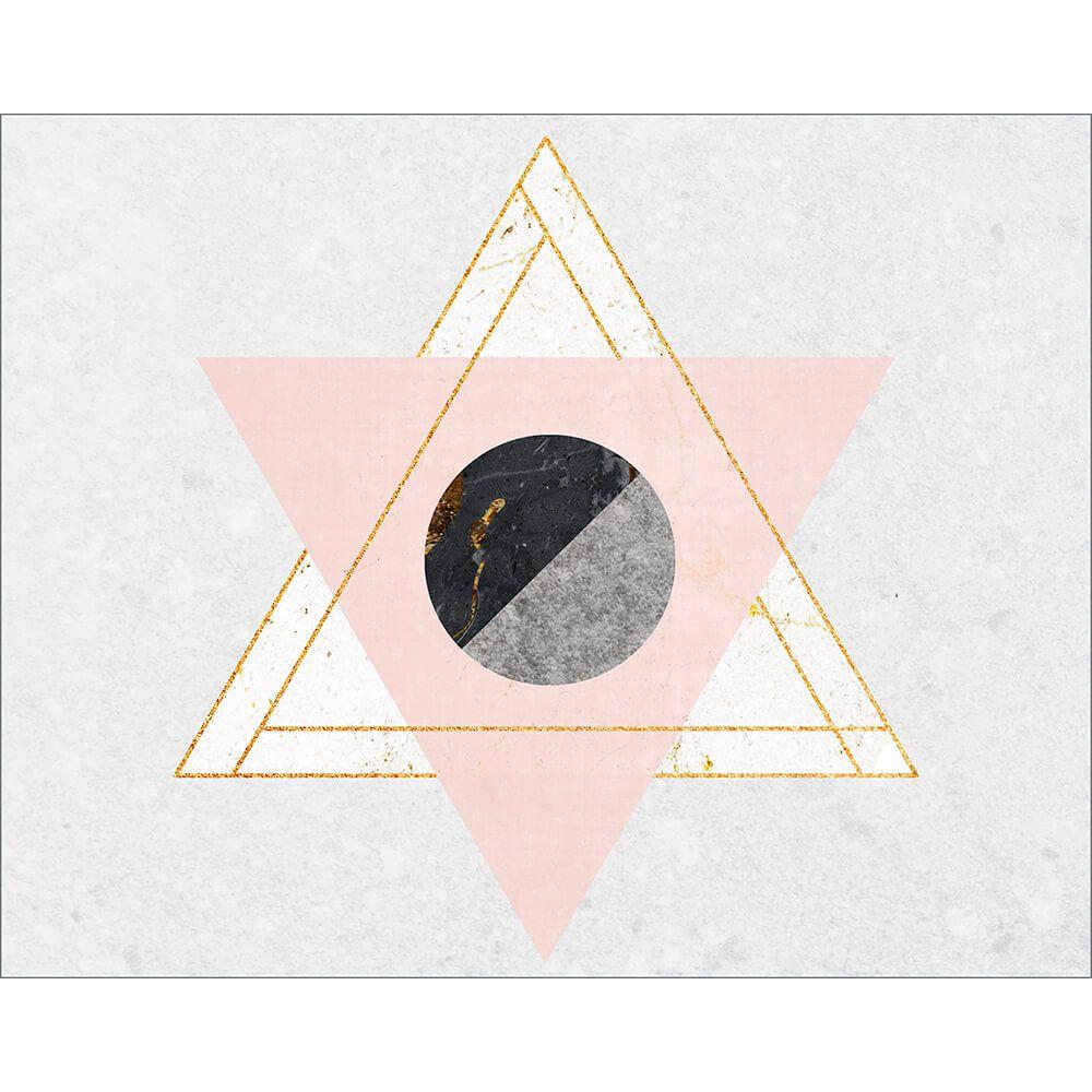 "Placa Decorativa ''Moon Triângulos"""