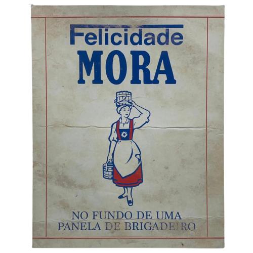 """Placa Decorativa Retangular """"Panela de Brigadeiro"""""""
