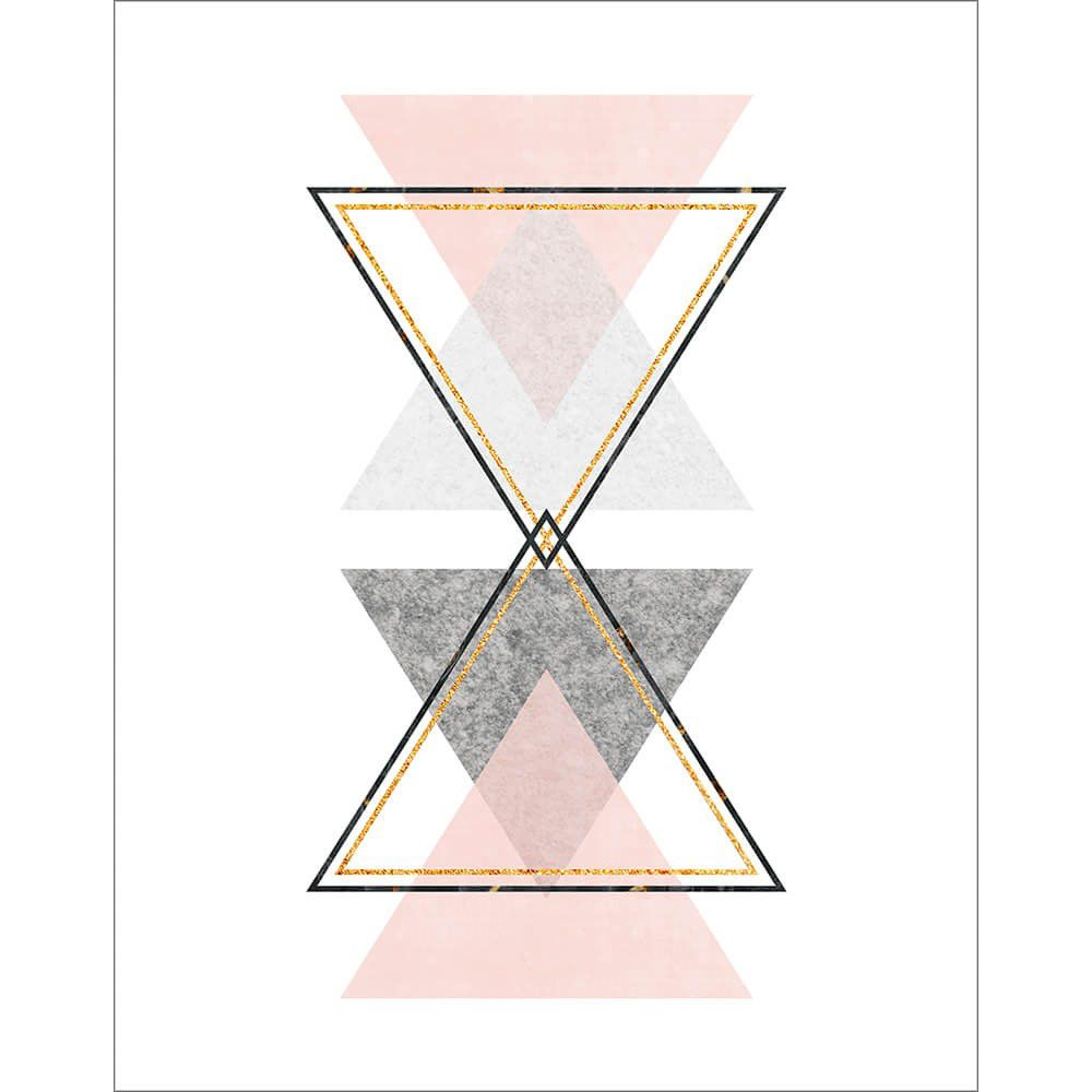"Placa Decorativa ''Triângulos"""
