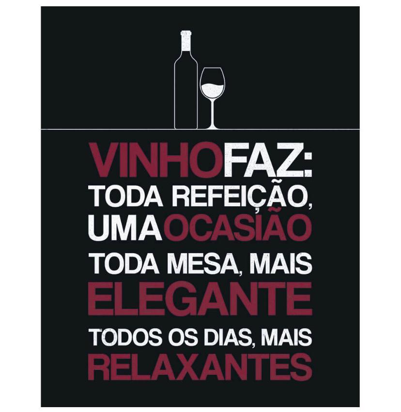 """Placa Decorativa """"Vinho Faz os Dias Mais Relaxantes"""""""