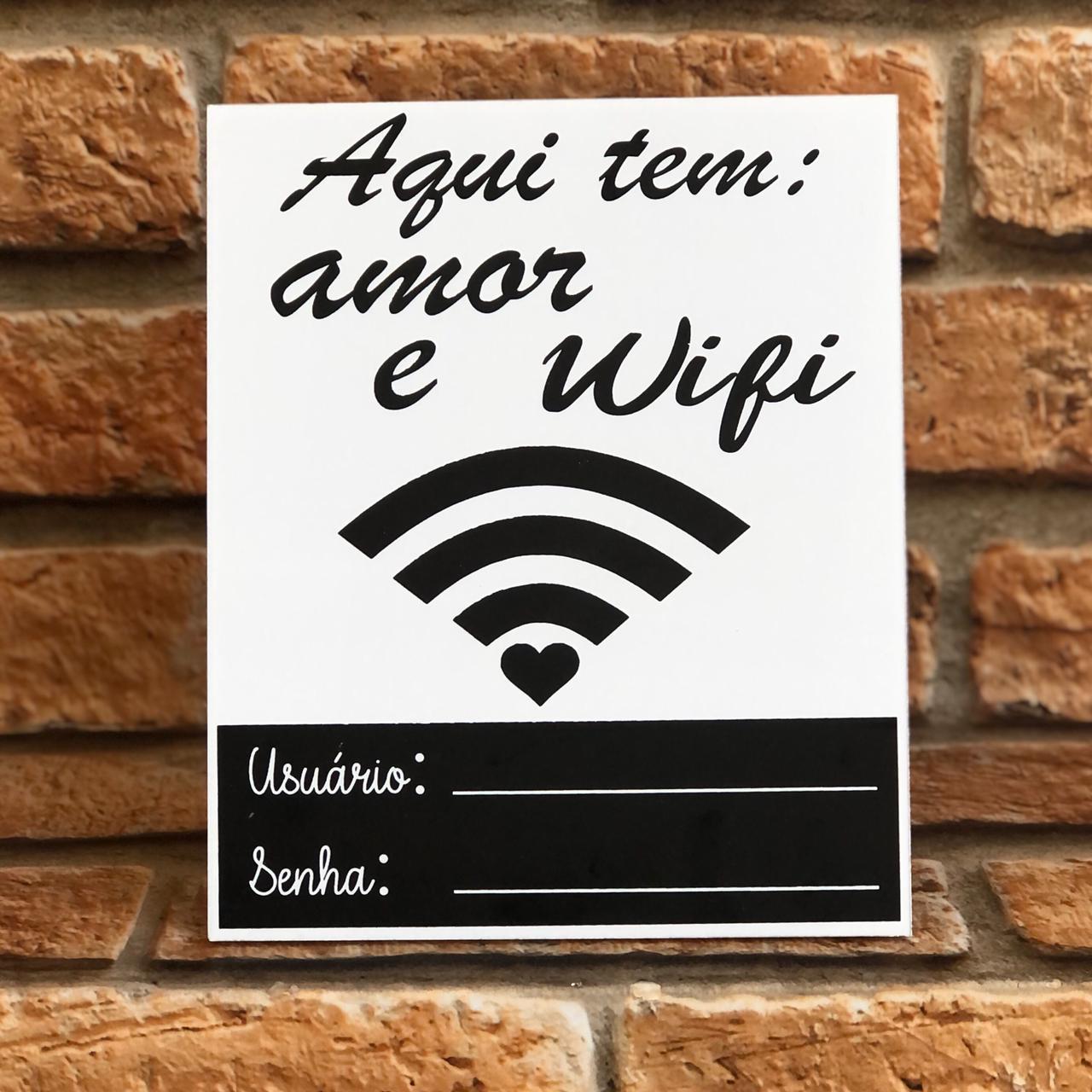 Placa Lousa Wifi com Suporte Madeira