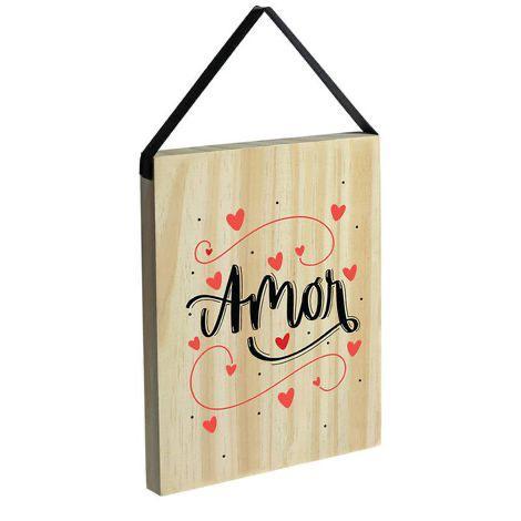 """Placa Pinus """"Amor"""""""