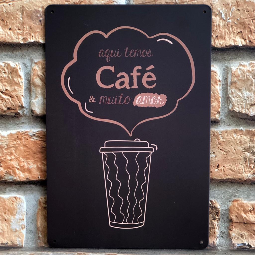 Placas Decorativas de Metal Tokyo Design Tema Café