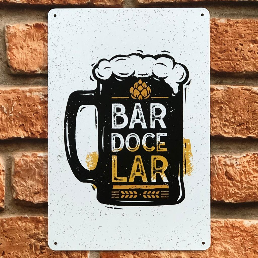 Placas Decorativas de Metal Tokyo Design Tema Cerveja