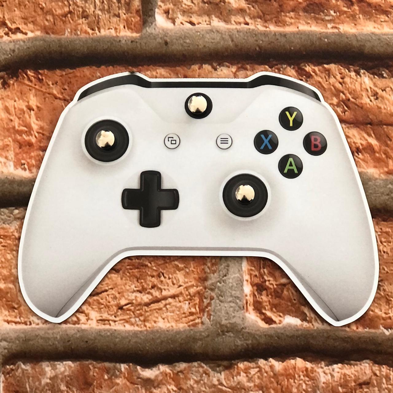 Porta Chave de MDF 3 Ganchos Controle Xbox Branco Beek