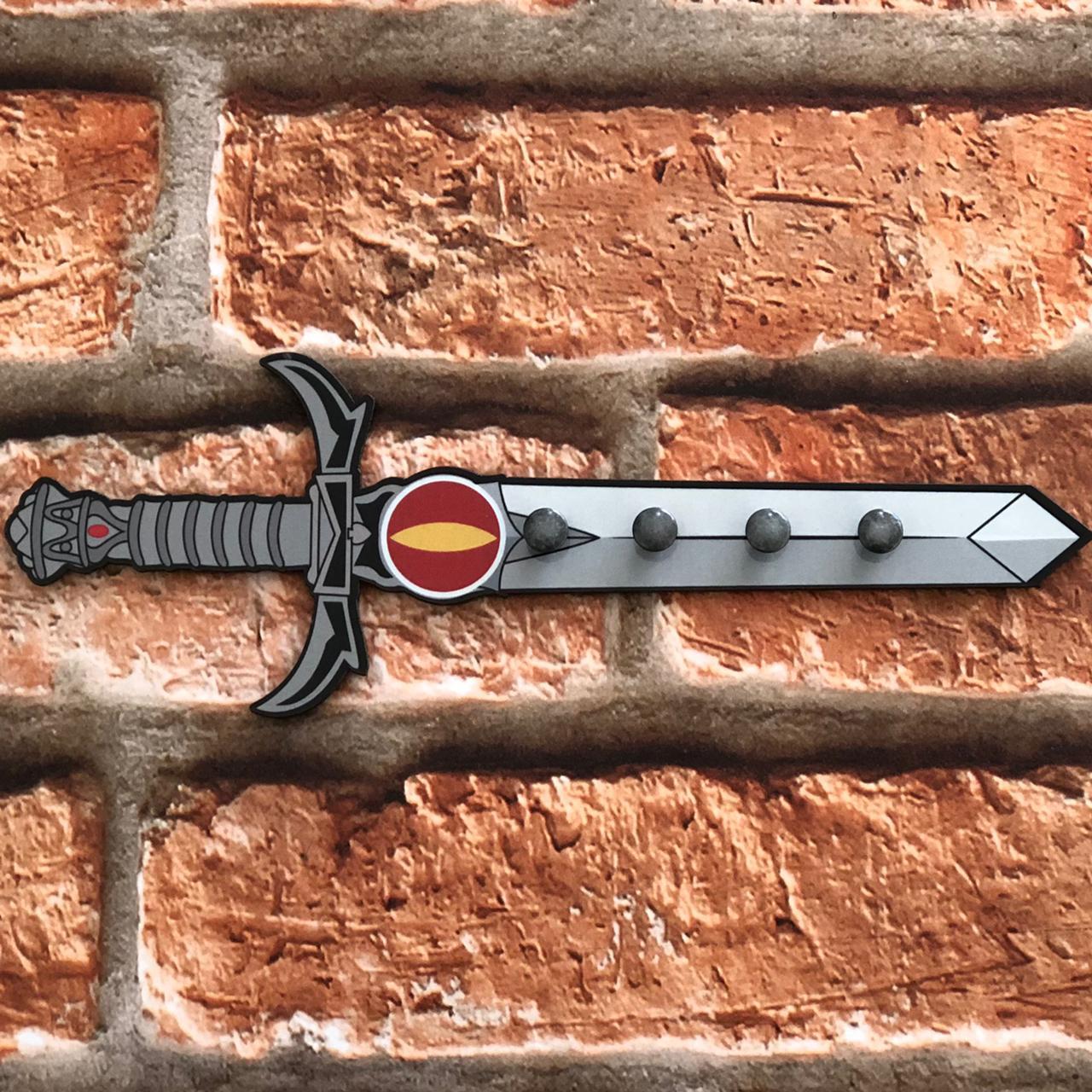 Porta Chave de MDF 4 Ganchos Espada da Justiça Beek