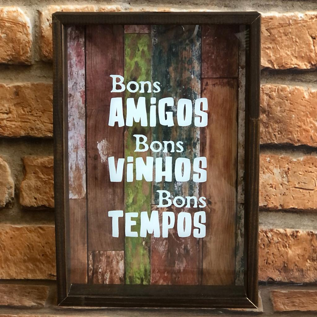 """Porta Rolhas """"Bons Amigos, Vinhos e Tempos"""""""