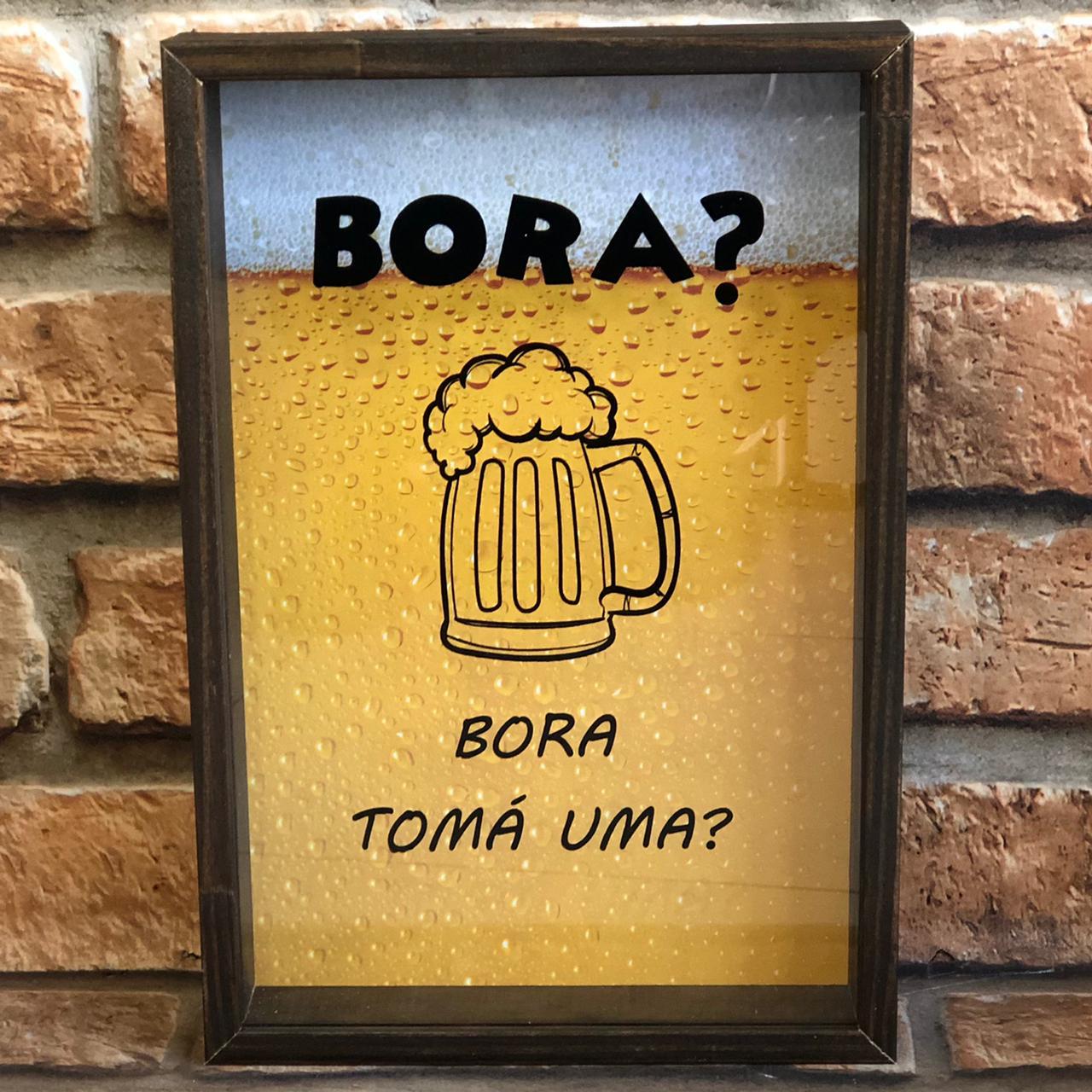 """Porta Tampinhas """"Bora Tomá Uma?"""""""