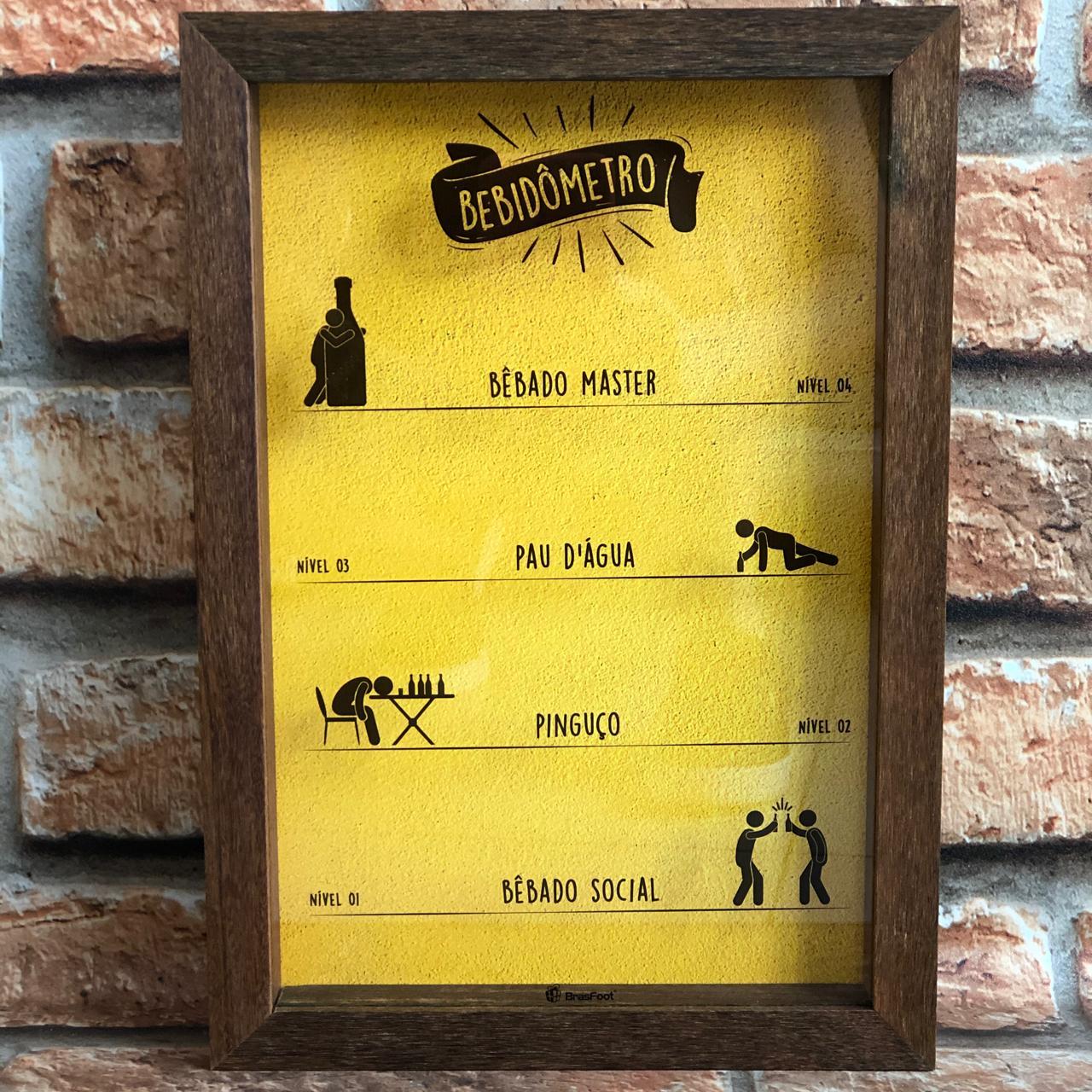 Quadro Porta Tampinha de Cerveja Bebidômetro
