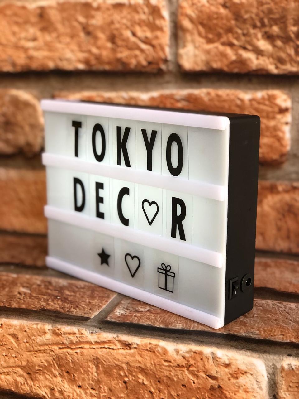 Quadro Decorativo LED Luminoso Lightbox P