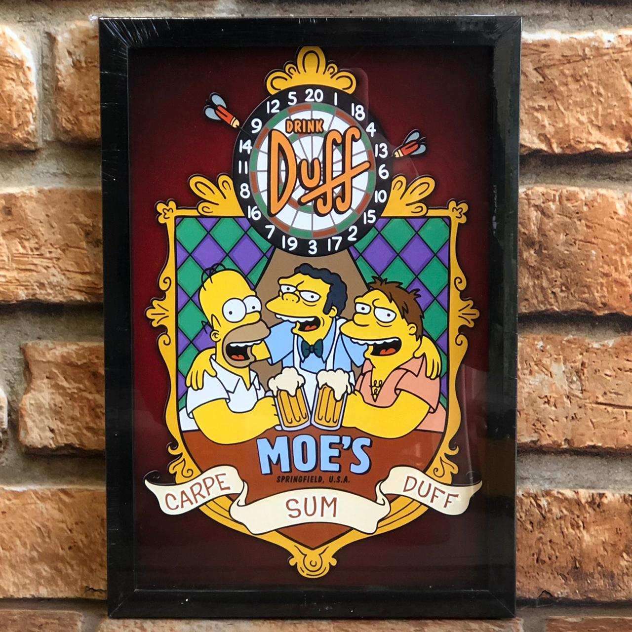 Quadro Decorativo Looks Os Simpsons Bar do Moes