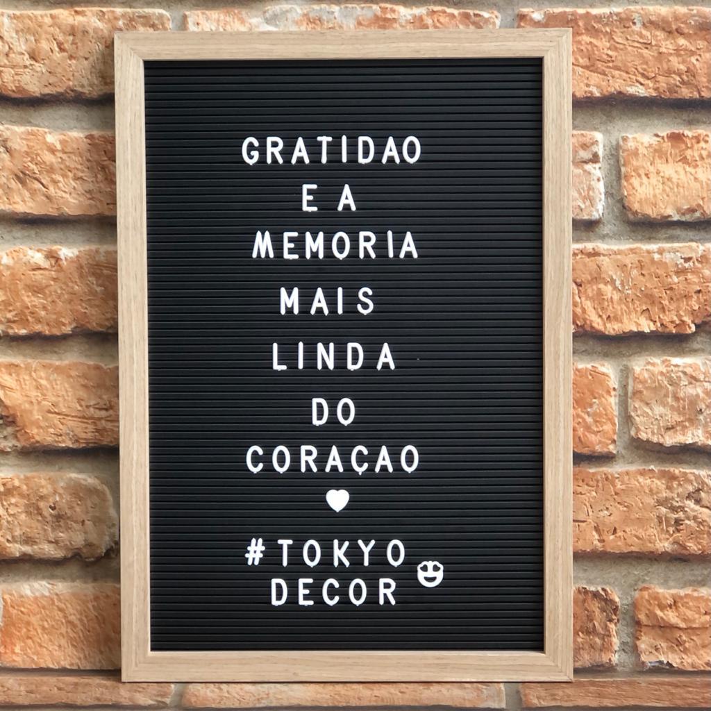 Quadro Letter Board Decorativo Retangular