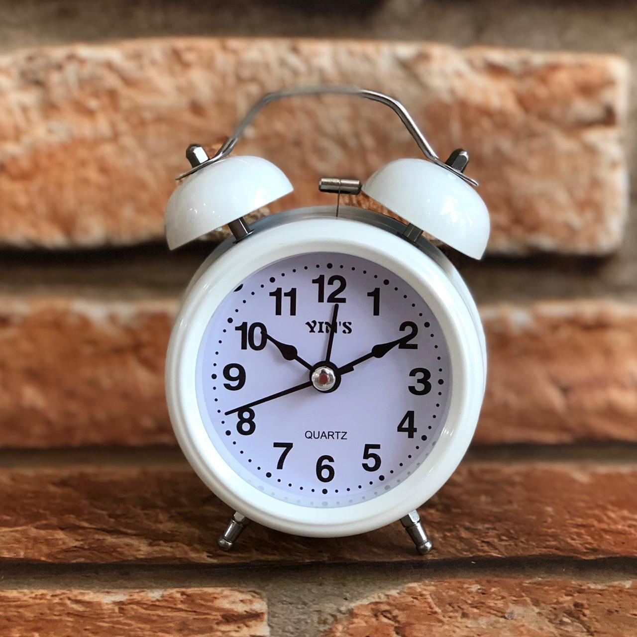 Relógio de Mesa Despertador Retrô Cores