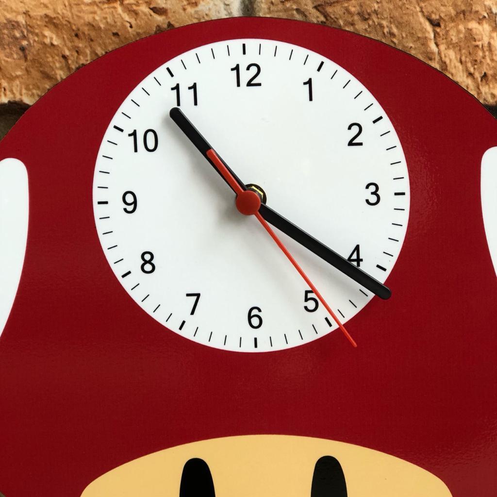 Relógio de Parede MDF Beek Mario Super Cogumelo