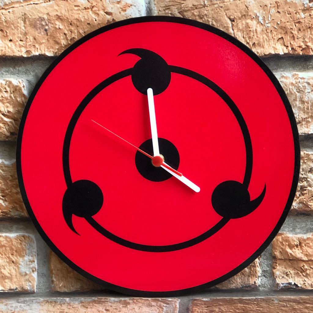 Relógio de Parede MDF Beek Sharingan Naruto