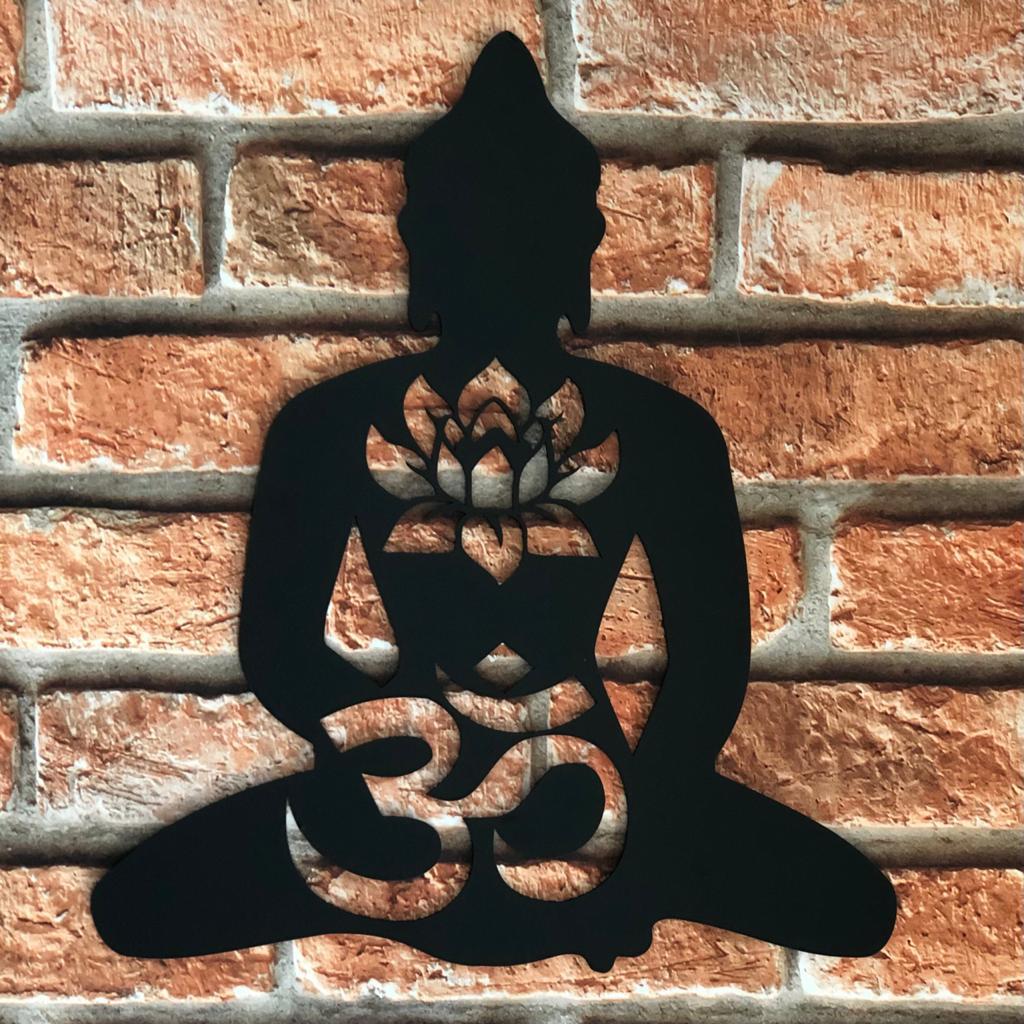 Silhueta Decorativa Buda Om