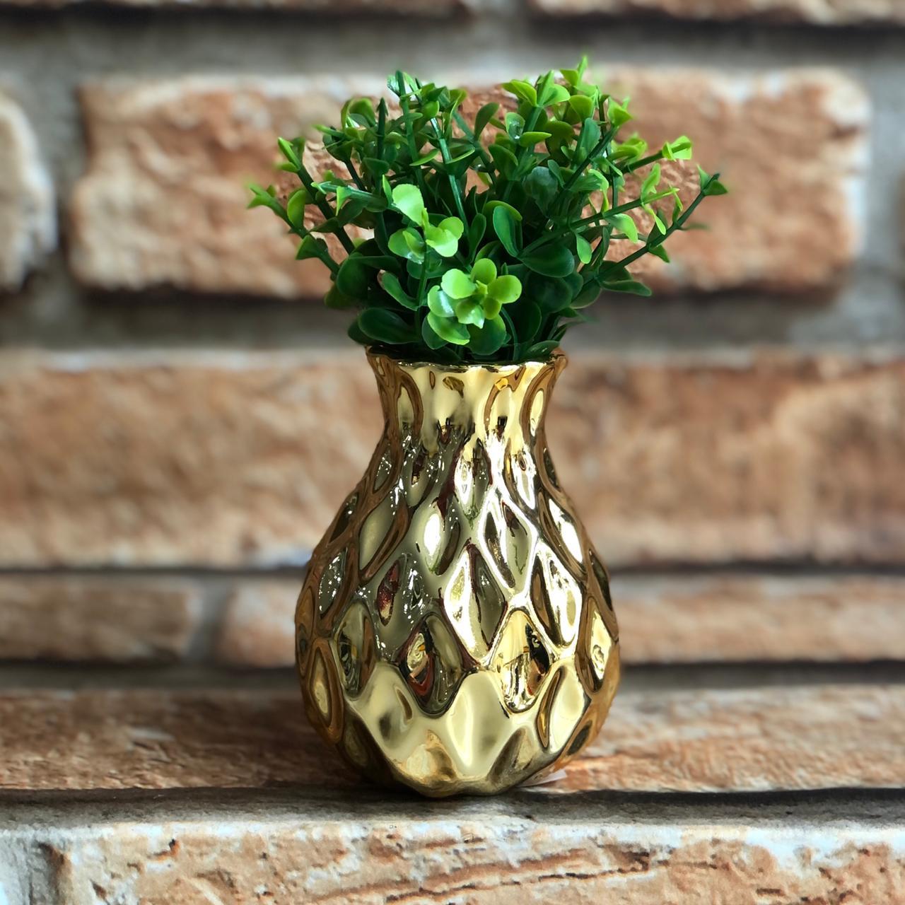 Vaso Decorativo Brilhante Pequeno