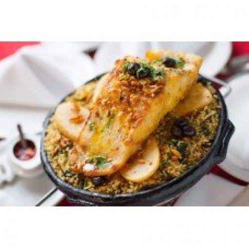 Bacalhoada Grelhada com arroz de braga (serve 2 pessoas)