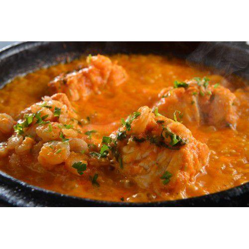 Moqueca de peixe com camarão (Serve 1 pessoa)