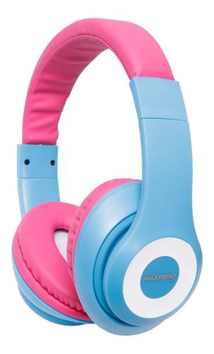 Headset Maxprint Life Series Com Microfone Color Pink & Blue