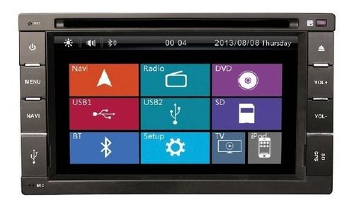 Multimidia Universal 2 Din Orbe Flex Tv / Gps / Bt / Mirror