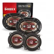 Alto Falante Bravox Kit Facil 5 Triaxial E 6x9 Quadriaxial